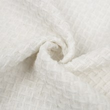 Plain white fancy yarn 100 cotton fabric prices for coat