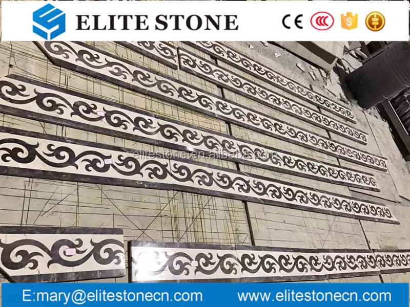 marble waterjet border designs tiles