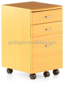 Cushion Top Office 2 Drawer Filing Cabinet With Wheels
