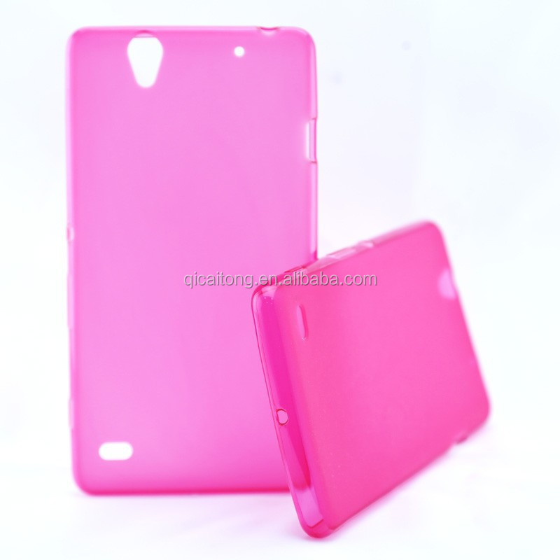 mobile phone OEM /ODM pudding tpu case for C4 E5303