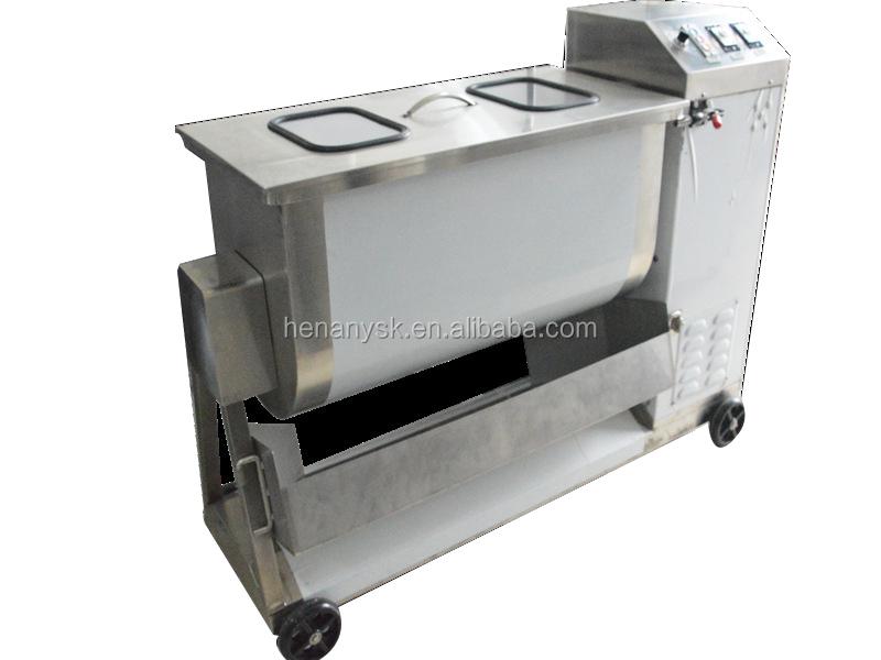 150L Stainless Steel Multifunctional Stirring Machine  Single Shaft Mixer Sausage Meat Seasoning Fast Mixer