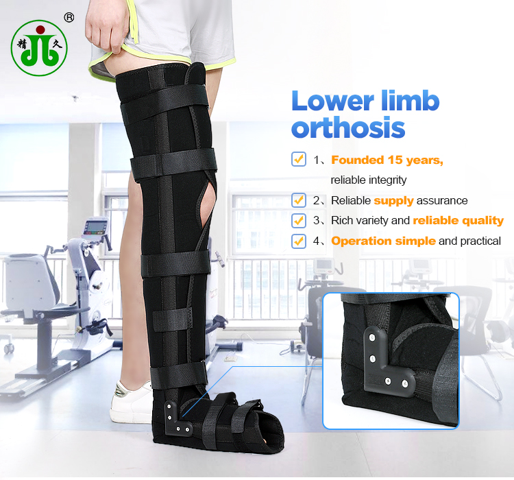 Medical orthopedic metal long leg support braces for sale