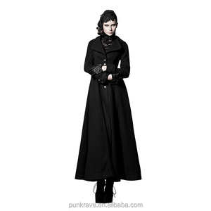 LY-043 Gothic Winter Dark factory Angel wholesale Christmas Women Long Flare Trench Coat