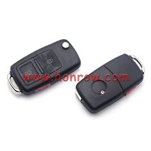 Original Ford modified 2+1 button remote key and transponder key are separated, for VW style remote