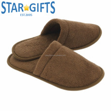 Custom Indoor Cheap Plush Blank Men S House Slippers For Guests