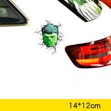 Volkrays автомобильные аксессуары 3D Мстители Светоотражающие Мультяшные наклейки для автомобиля Наклейка для мотоцикла Chevrolet Focus Smart Mini Mazda хол...(Китай)