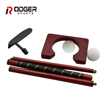 Indoor Mini Golf Putter Set,portable wooden Golf Gift Set with foldable golf club