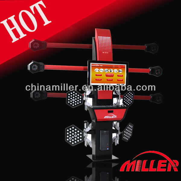 MILLER 3d four wheel alignment machine for workshop with 5000000 pixel camera,32'LCD