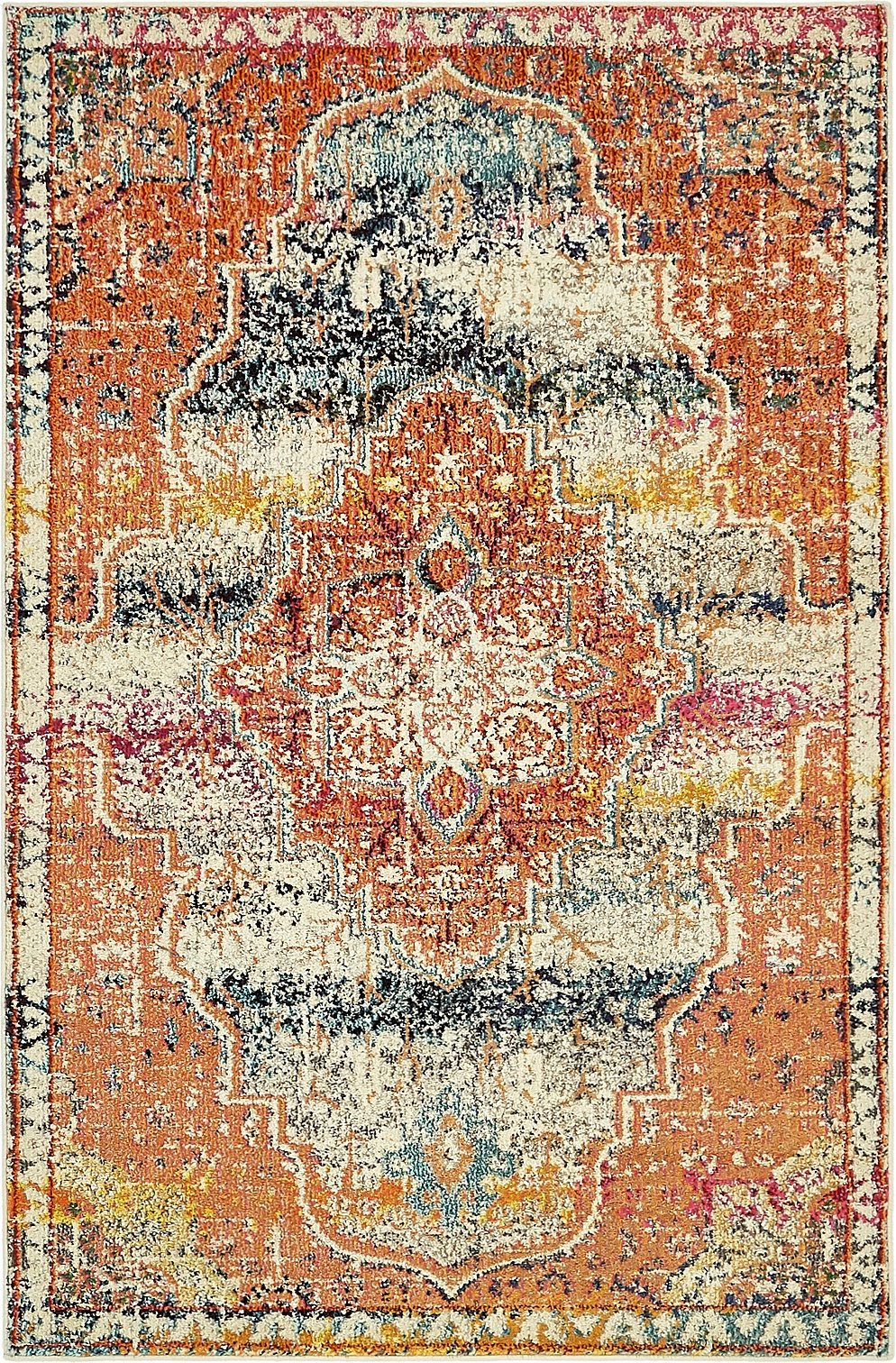 A2Z Rug Modern Contemporary & Traditional Design Rugs, Multi 4' x 6'-Feet Milano Collection Area rug