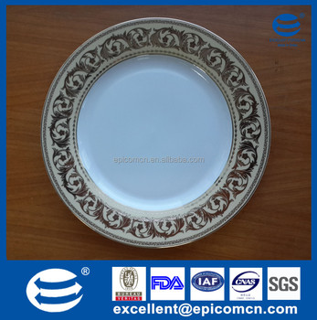 Nice Golden Rim Patterned Ceramic Serving Plates Buy Ceramic