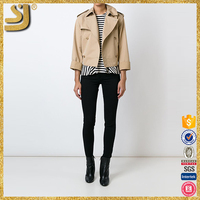 OEM snap button jacket, long trench jacket