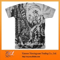 2013 Fashion Mens T-shirt With Allover Size Printing