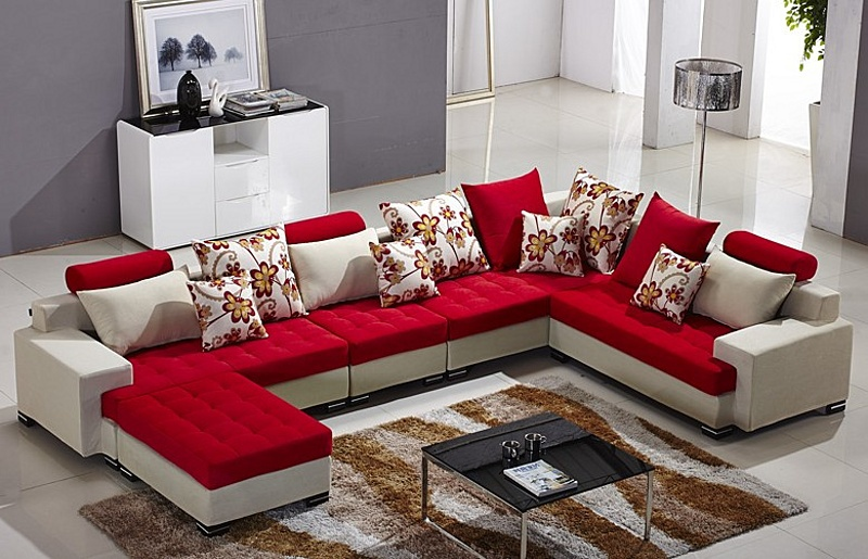 Modern home furniture l shape fabric sofa set designs Sofa set designs for home