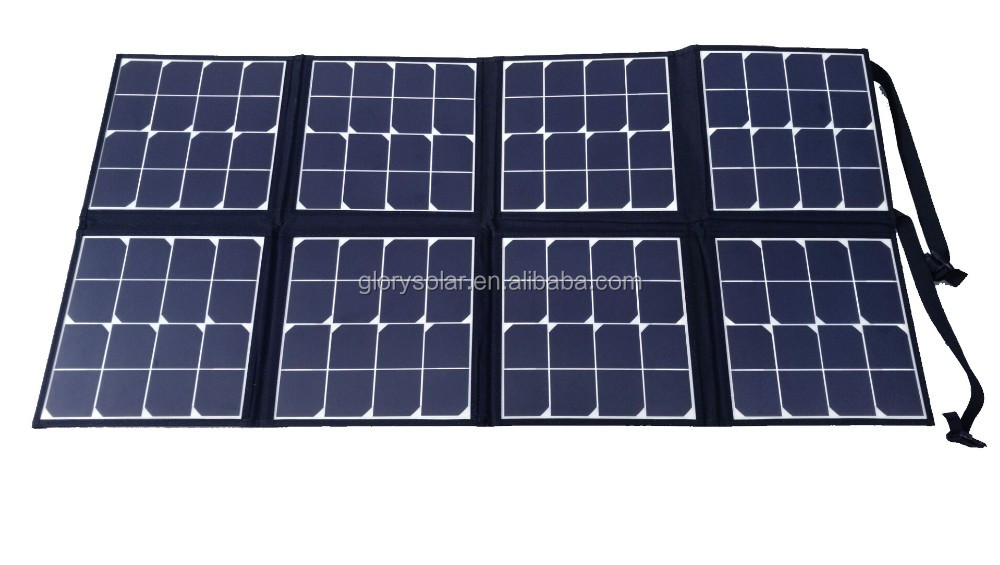 120 watt etfe integrated folding sunpower solar panel for Solar system fabric panel