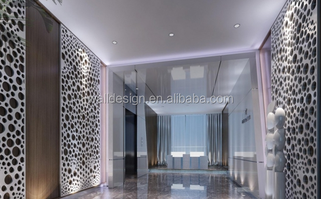 Cnc Cutted Wood Decortive Wall Paneling Buy Interior