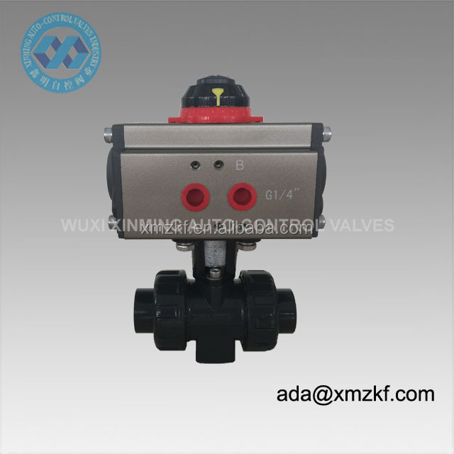 "1/2"" Pneumatic PVC Ball Valve with actuator"