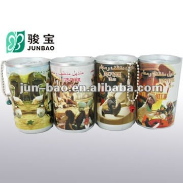 30pcs fashionable gift promotion mini wet wipes in canister with customer's design