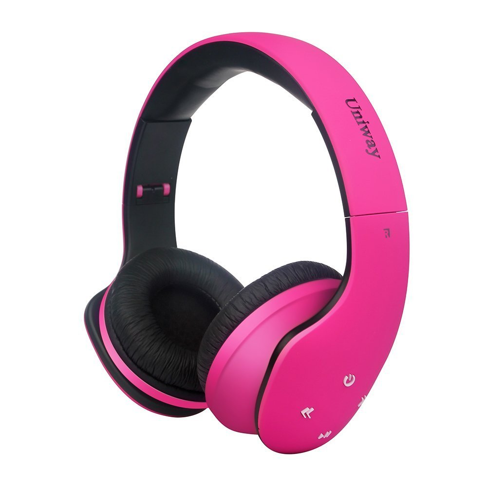 Buy Uniway U20 Bluetooth Headphones V4 0 Noise Cancelling Earbuds Foldable Wireless Headphones Multipoint Hifi Earphones With 3 5mm Audio Cable And Quality Battery For Pc Mac Laptop Mobiles Pink In Cheap Price On Alibaba Com