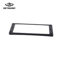 Black Plastic Curved Style Pickup Humbucker Ring For 8 String Electric Guitar Replacement 3.25*5.23mm