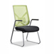 High quality office furniture chair green mesh back ergonomic four legs meeting visitor office chair with PP armrest