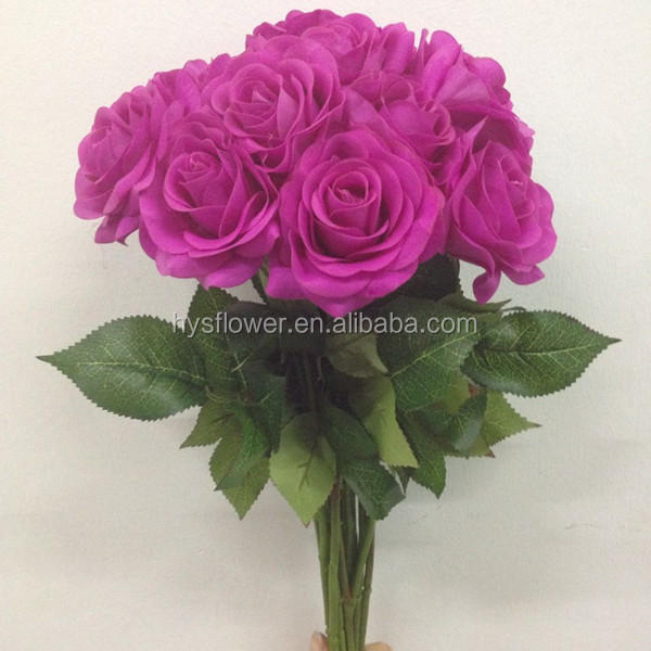 Artificial High Quality Real Touch Light Purple Roses,Real ...