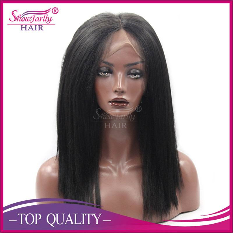 Bulk lace wigs beauty yaki straight synthetic lace front wig long black high temperature fiber wigs
