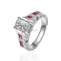 personality lady 925 sterling silver genuine ruby ring LYR0082