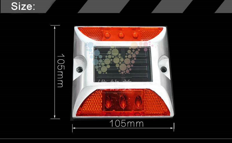 Roadway Safety 2x Solar Powered Led Road Stud White Road Flashing Light One Pack Road Stud