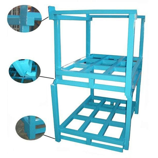 Warehouse Mobile Foldable Stackable Steel Metal Truck Tire Pallet Racking/Rack Storage System