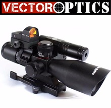 "Vector Optics2.5-14x50 Tactical Hunting Sniper Riflescopes with Green Laser Red Dot Reflex Sight scope +1"" Picatinny Scope Mount"