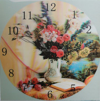 Wholesale hotsale lenticular 3d lenticular wall clock for home decoration