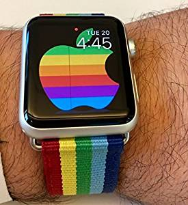 719e77eb677 Get Quotations · Apple Watch Band - Rainbow - Apple Watch Nylon Replacement  42mm Watchband - HUGE SALE!