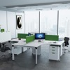 Top quality white melamine 4 person office linear workstations