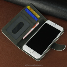 Protector Cover wallet pu leather case for iphone7 credit card slots phone case