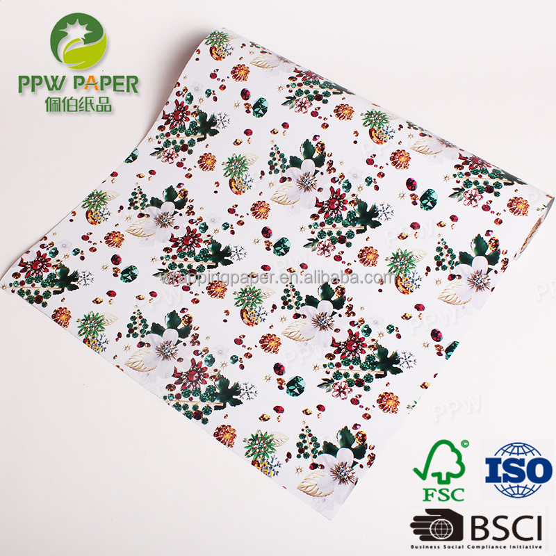 PPW 8 Color Printing Designs Various Gift Wrapping Paper Wholesale Customized