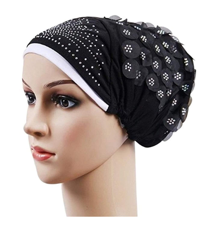 4a87f54837f Women Muslim Stretch Turban Hat Hair Loss Head Scarf Wrap Hijib Cap Chemo  Cap