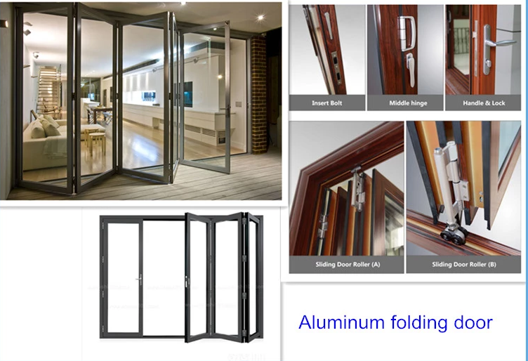 product-Zhongtai-Powder Coating Aluminum Tempered Glazed Exterior Foldable Door Glass Folding Doors--1