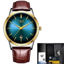 Женские кварцевые часы LIGE, модные водонепроницаемые часы из нержавеющей стали для девушек(China)