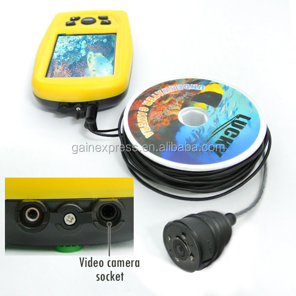 20M Cable Length LUCKY Underwater Fishing & Inspection Waterproof Camera System CMD sensor with 3.5 inch TFT RGB Display Monitor