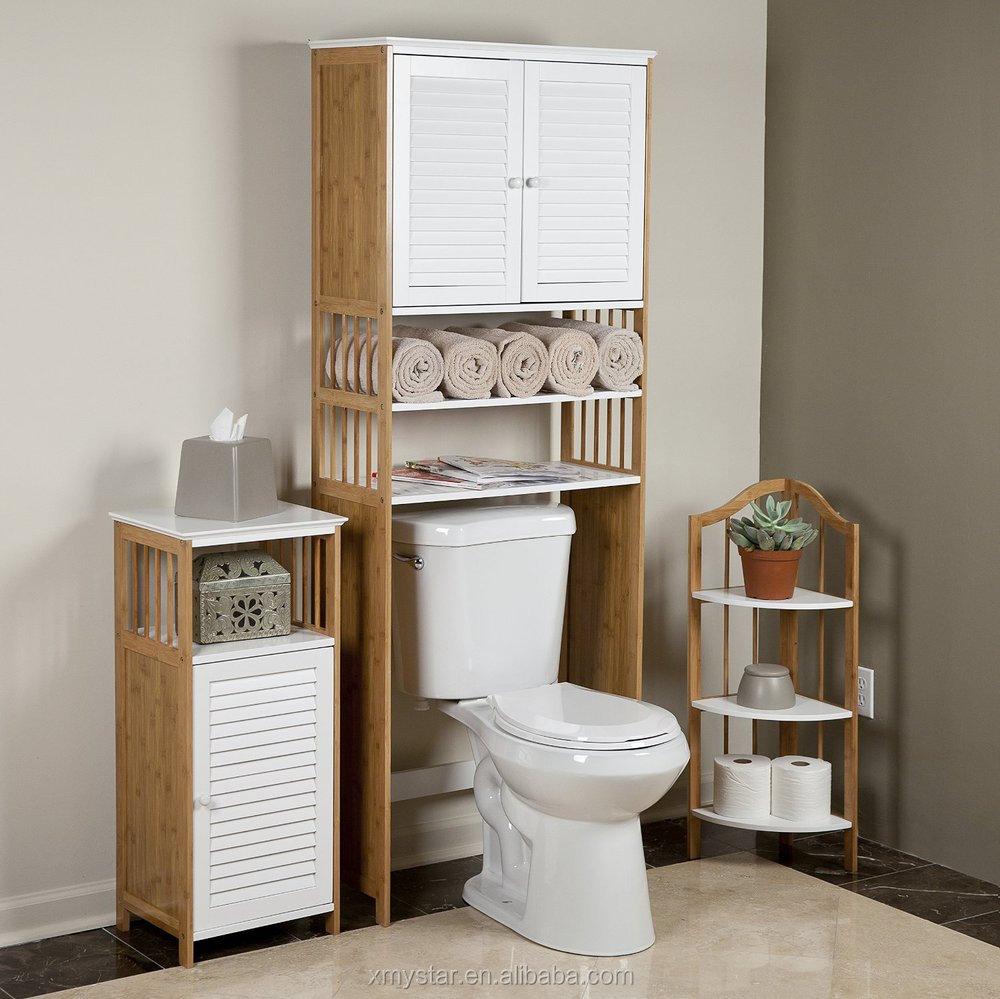 Bathroom floor caddy - 3 Tier Bamboo Caddy Bathroom Floor Caddy