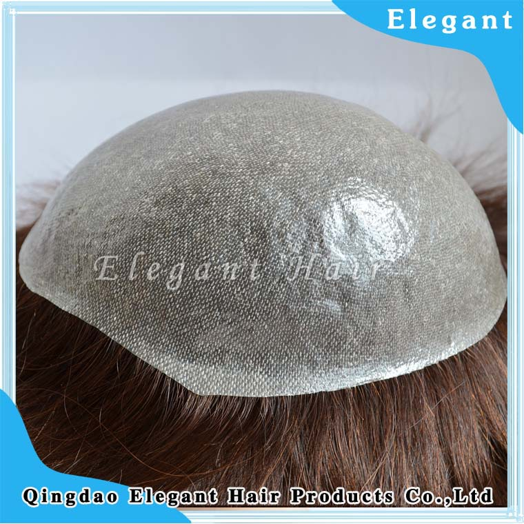 Indian remy hair 0.03mm thin skin toupee
