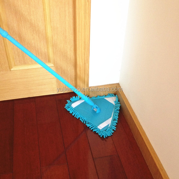 360 spin triangle flat mop cleaning tool color pp iron pole floor mop
