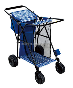 2016 hot sale beach trolley foldable fishing beach cart for Fishing carts for sale