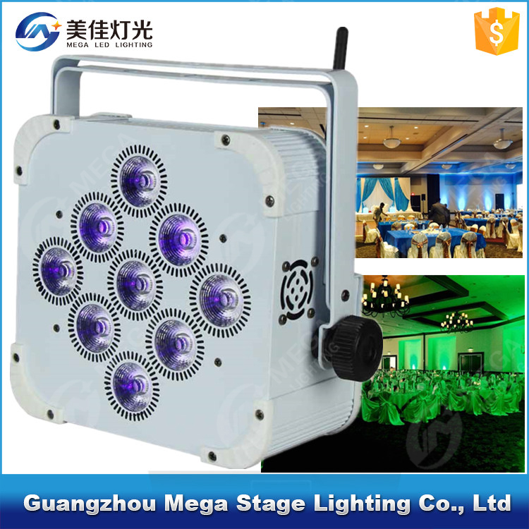 9x18W 6in1 RGBWA UV dmx512 wireless battery powered led uplights