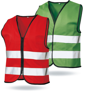 EN1150 high visibility children clothes safety vest kids clothes
