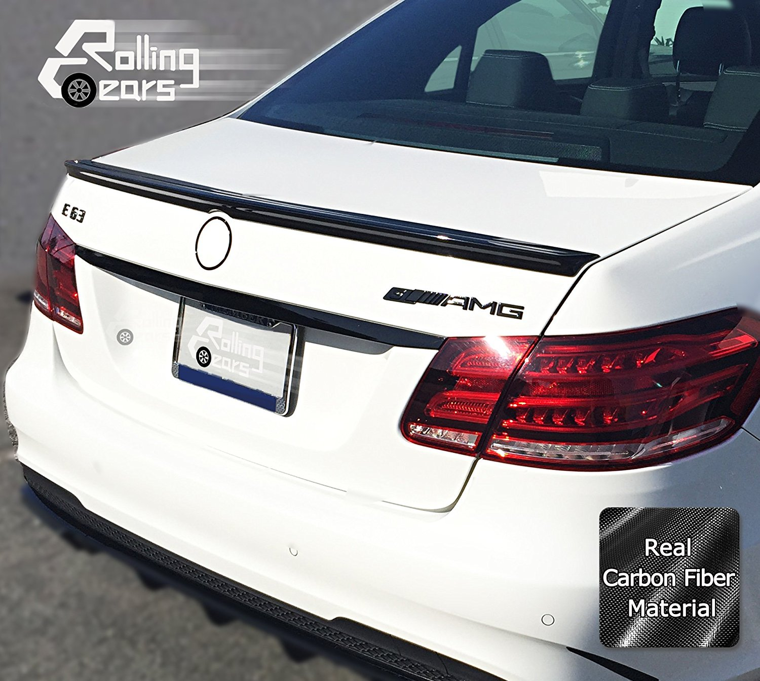 AMG Sport Package Type Style Real Dry Carbon Fiber Rear Ducktail Boot Spoiler Trunk Lid Wings For Mercedes-Benz W212 E Class E300 E350 E63 Sedan