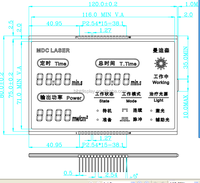 FSTN custom 7 segment LCD display for meter