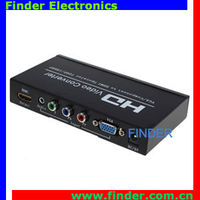 2in1 out converter box YPbPr VGA to HDMI Converter with scaler