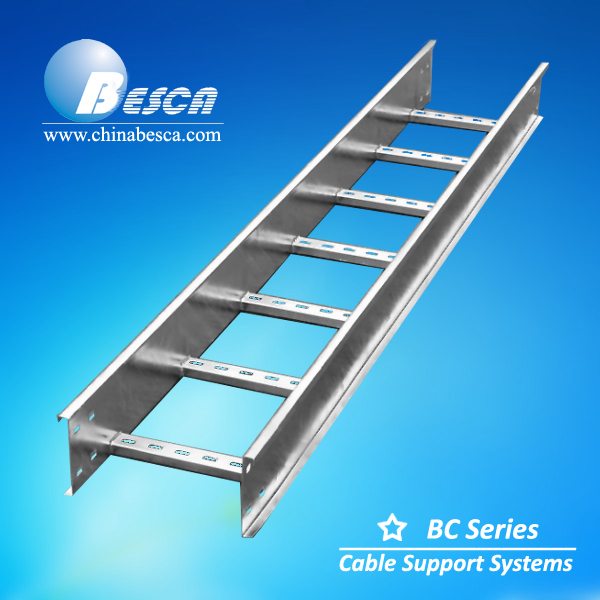 Carbon Steel Galvanized Finishing Cable Ladder Rack For Electrical Wiring System Besca Brand