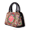 2016 Spring canvas embroidery lady bags/women handbag with flower embroidery